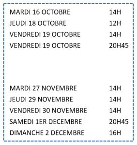 Dates reprise TMR